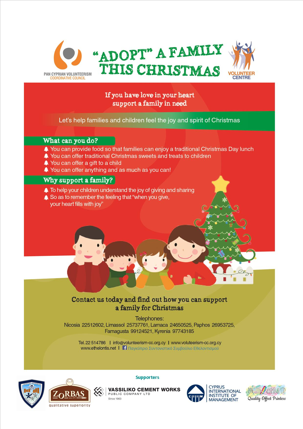 Adopt A Family For Christmas.Vassiliko Cement Works Public Company Ltd Participation In